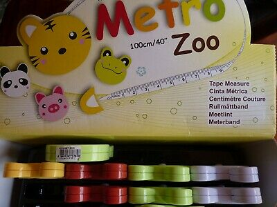 METRO ZOO animals - RETRACTABLE TAPE MEASURES - 100CM