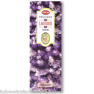 40 Incense Sticks PRECIOUS LAVENDER Hem Brand (5 Boxes x 8g)