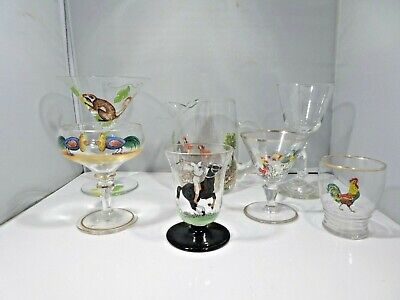 A Collection Of 1940'S Decal Barware