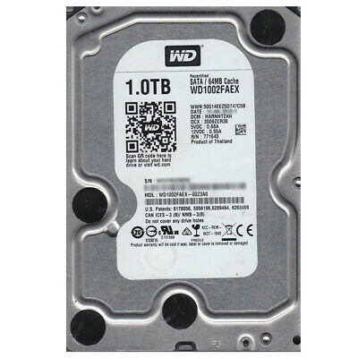 "WD Black 1TB 3.5"" SATA 6Gb 64MB Cache 7200RPM HDD WD1002FAEX"