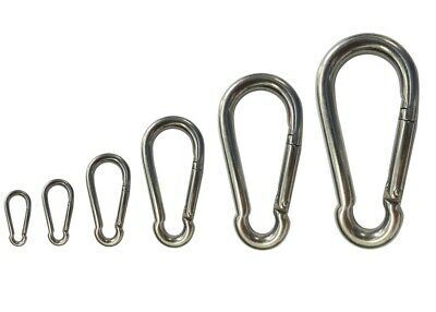 Snap Hook Stainless Steel G316 Clip Climbing Lock Carabiner - 4mm to 12mm
