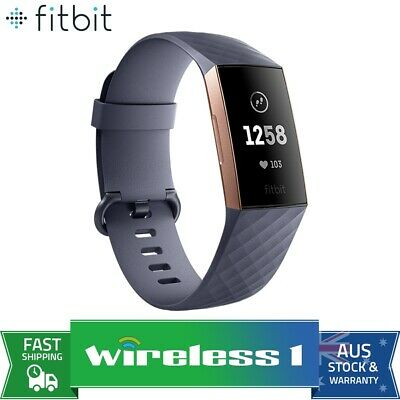 Fitbit Charge 3 Fitness Tracker - Rose Gold/Blue Grey