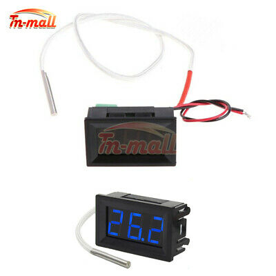 12V XH-B310 Blue Digital LED Diaplay Thermometer K-type Thermocouple Probe