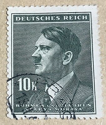 Germany Nazi Adolph Hitler 10k Deutsches Reich WWII World War 2 Era Stamp