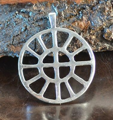 SOLAR WHEEL TARANIS WHEEL Hallstatt Sterling Silver Pendant Celtic Ancient Pagan