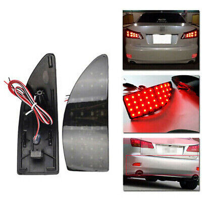Smoked Lens Red LED Fit For LEXUS 250 IS350 Rear Bumper Reflector Brake Light