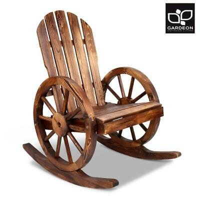 Gardeon Wooden Wagon Rocking Chair Indoor Lounge Outdoor Patio Garden Furniture