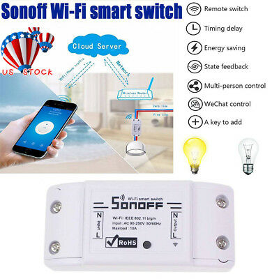 Sonoff ITEAD Smart Home WiFi Wireless Switch Module For Apple Android Control US
