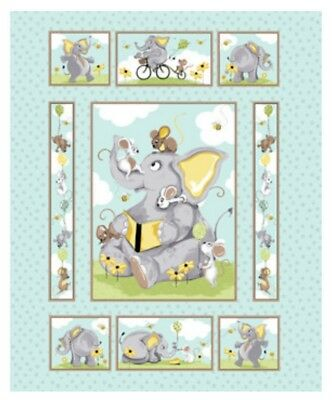 Susybee Knightly Quilt Panel * Cute * New * Free Post * 🐘