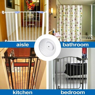 4 Walk Thru Pressure Gate wall Guard Wall Pads Protector Baby Dog Pet Child Thru