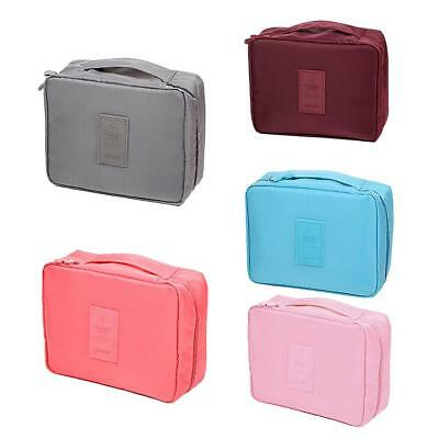 Travel Makeup Cosmetic Toiletry Case Wash Organizer Storage Pouch Hanging Bag GL