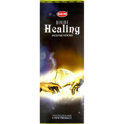 40 Incense Sticks - DIVINE HEALING- HEM BRAND - 5 Sq Boxes x 8g- Fresh Stock