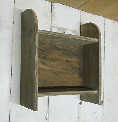 Handmade Barn wood Rustic Country Primitive Shelf Natural Farm House Patina