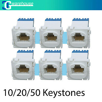 10/20/50 CAT6/Cat5 RJ45 Network LAN Data Jack Mech Insert Clipsal Bulk Sale