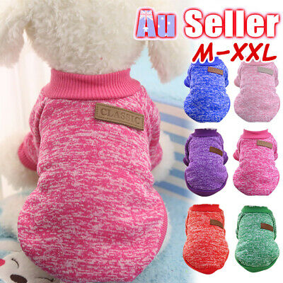 Coat Puppy Warm Cute Pet Clothes Knitwear Knitted Dog Sweater Jumper Winter Cat