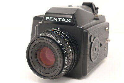 【MINT】 Pentax 645 Body 120 Film Back w/SMC A 75mm F/2.8 more from Japan #680046