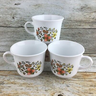 "Corelle By Corning ""Indian Summer"" Coffee/Tea Mug/Cup Vintage Lot Of 3 USA EUC"
