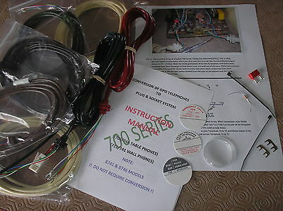 CONVERSION KIT 700 Series GPO TELEPHONE - READ DESCRIPTION - Incl NEW Dial Cover