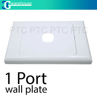 1 Port Wall Plate Wallplate Cover Custom Suit Mech Insert Clipsal Style White AU