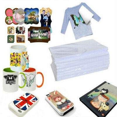 100Pcs A4 Dye Sublimation Heat Transfer Film Paper For Polyester Cotton T- Shirt