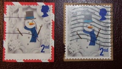 2016 1st Class Self Adhesive Christmas Stamp Error - Perf Shift - Pay No Cash