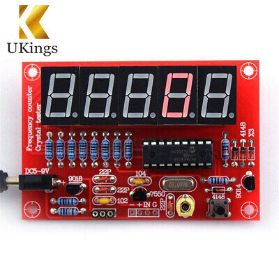 1Hz-50MHz Crystal Oscillator Tester Digital LED Frequency Counter Meter DIY Kits