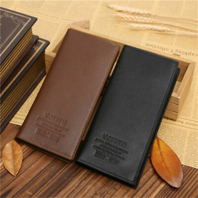 Mens Long Casual Leather Wallet Pockets Credit Card Clutch Bifold Business Purse