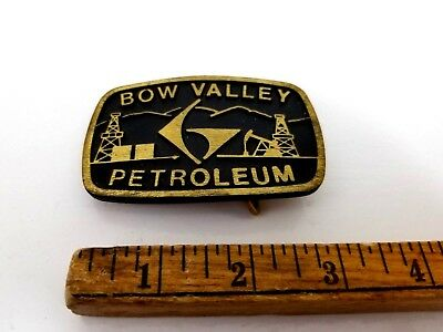 Vtg. Bow Valley Petroleum Belt Buckle!! Dyna Buckle..Privo Utah..Solid Brass