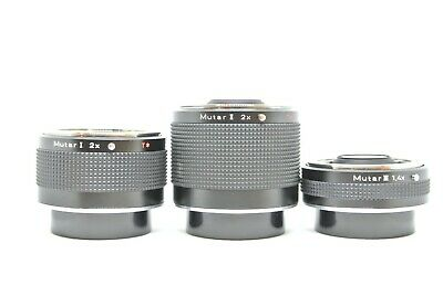 【N, MINT×3 IN BOX】Contax Carl Zeiss T* Mutar  Teleconverter Ⅰ Ⅱ Ⅲ Set From JAPAN