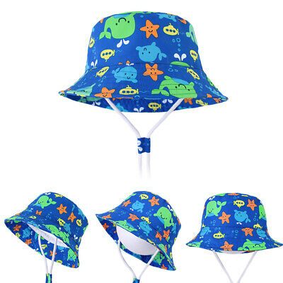 Baby Sun Hat Summer Beach Hat Bucket Cap Newborn Toddler Kids Boy Girl 0-8 Years