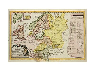 East and North Europe, old map Von Reilly 1791