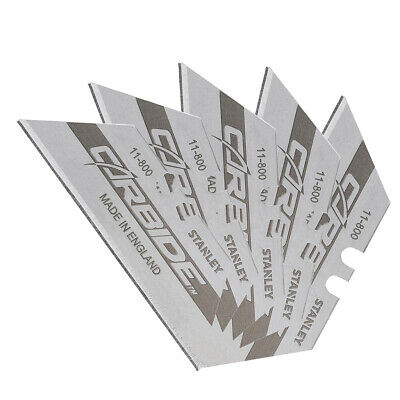 Pack of 5 pieces of Stanley 0-11-800 Tungsten Carbide trimming blades