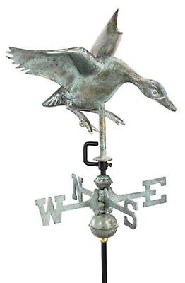 Landing Duck Copper Verdigris  Weathervane
