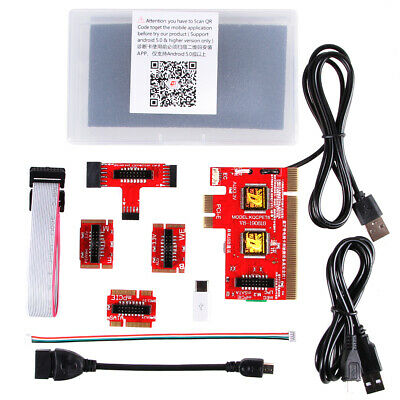 PCI/PCIE/LPC/EC Mainboard Diagnostic Analyzer Card Tester PC Notebook Red