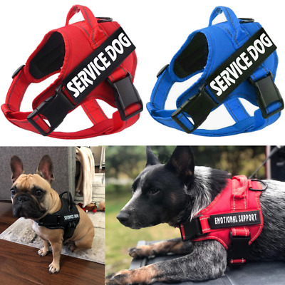 Reflective Pet No Pull Harness Vest Service Dog Walk Out Hand Strap & Free Patch