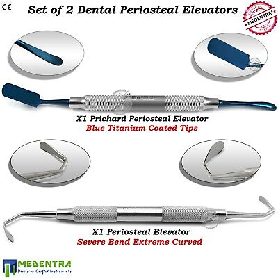 Set of 2 Dental Implant Periosteal Elevators Sinus Lift Surgery Instruments Lab