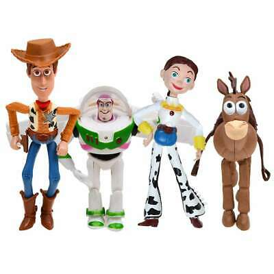 4Pcs/Set Toy Story 3 Woody Buzz Lightyear Jessie Action Figure Gift Collectible