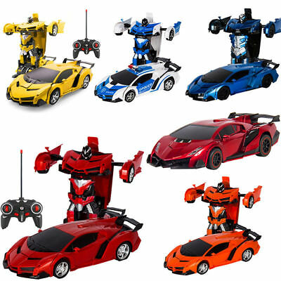 Kids Toy Gift Transformer RC Robot Car Remote Control Car with LED Lights s77