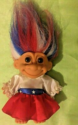 Russ Troll Doll USA America Around The World series collectable 5 inch