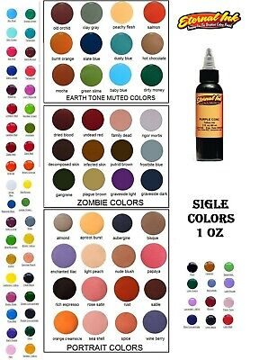 ETERNAL Tattoo Ink Individual Bottles 1 oz Bottle Authentic 161 Single Colors