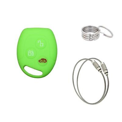 Car Key Case For Ford Blank Remote Light Green Key chain 150mm 2pc Key Ring 30mm
