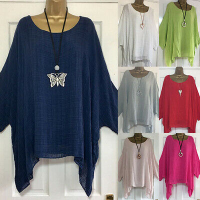 Womens Batwing Sleeve Loose Tops Blouse Ladies Summer Casual T Shirt Plus Size