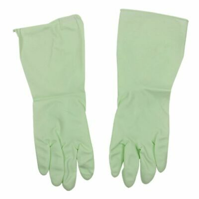 A pair of Household Kitchen Dish Cleaning Green Rubber Washing Gloves Y1U9 V3M3