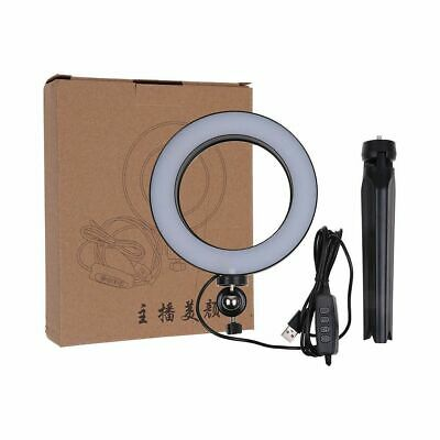 "6"" LED Ring Light + Stand 5500K Dimmable Lighting Kit for Makeup Phone Camera"