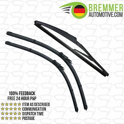 Vauxhall GTC Coupe (2014-->) Wiper Blade Complete Set X3 Front Rear
