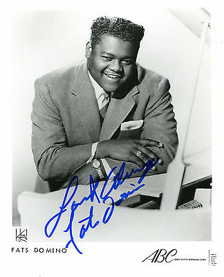 autographe Fats DOMINO (Blueberry Hill)
