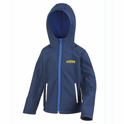 New Holland Kids Hooded Soft Shell Jacket Navy (NHA1110J) Sizes- Age 3 to Age 14