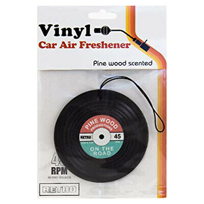 Vinyl Record Shaped Air Freshener Paper Pine Wood Scent Car Deodoriser Lp