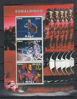 10pcs Sport Soccer Ronaldinho  perf Private Local issue / not MNH