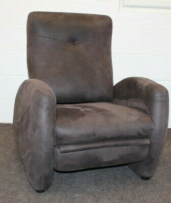 Designer, Brown Saddle Fabric Manual Recliner Chair